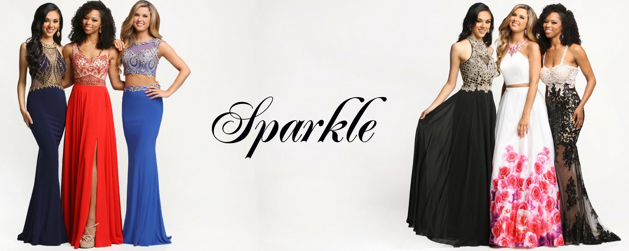 model wearing prom dress